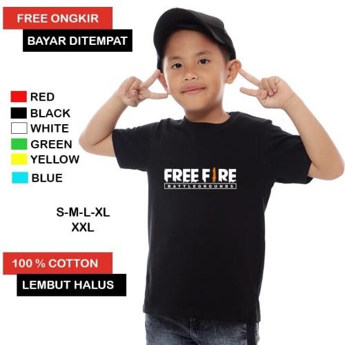 Foto Produk Kaos Anak Free Fire / Kaos Freefire / Kaos Anak Laki Laki Cotton 100 % - S dari Carrado Official