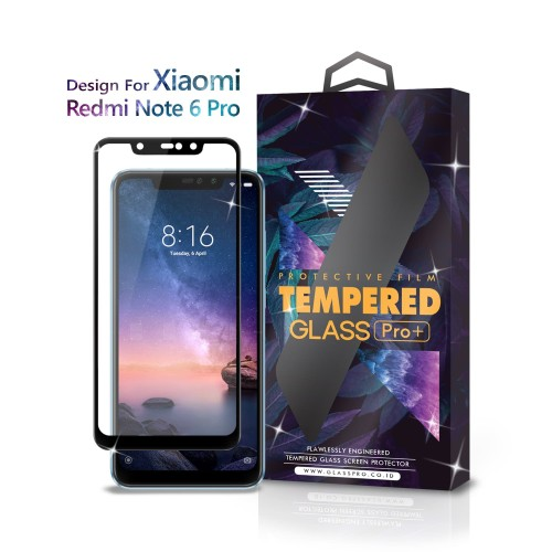 Foto Produk Tempered Glass Xiaomi Redmi Note 6 Pro Full Cover Black - Glass Pro dari Glass Pro Indonesia