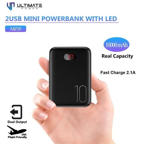 Foto Produk Ultimate Power Dual Usb Mini Digital Powerbank 10000mah MZ10 dari Ultimate Power Official