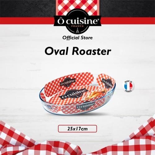 Foto Produk Loyang Kue Kaca OCuisine Glassware Oval Roaster 25x17 Cm dari Ocuisine