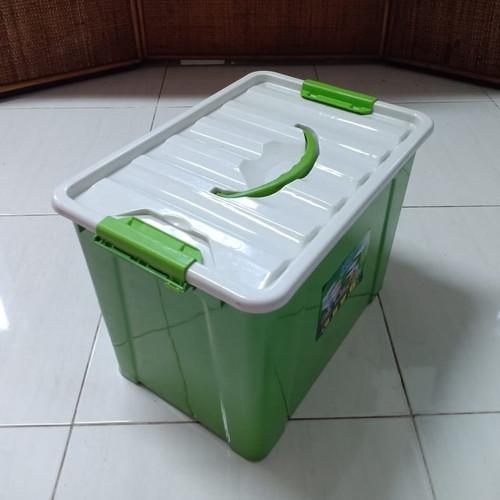 Foto Produk Handy Box Container Dgn Handle 8 Liter (Berwarna) / Box Container 8L - Hijau dari secretbasesby