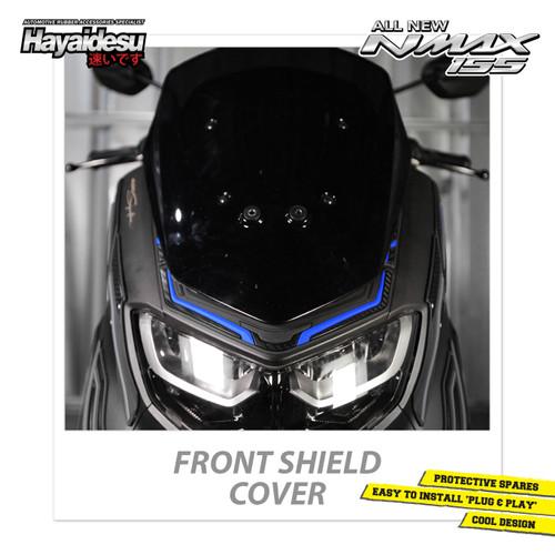 Foto Produk Hayaidesu All New NMAX Front Shield Cover Variasi Body Protector - Biru dari Hayaidesu Indonesia