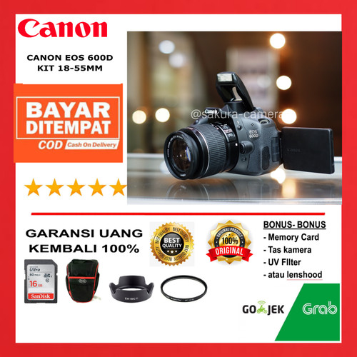 Foto Produk Canon 600d kit 18-55mm dari SAKURA CAMERA