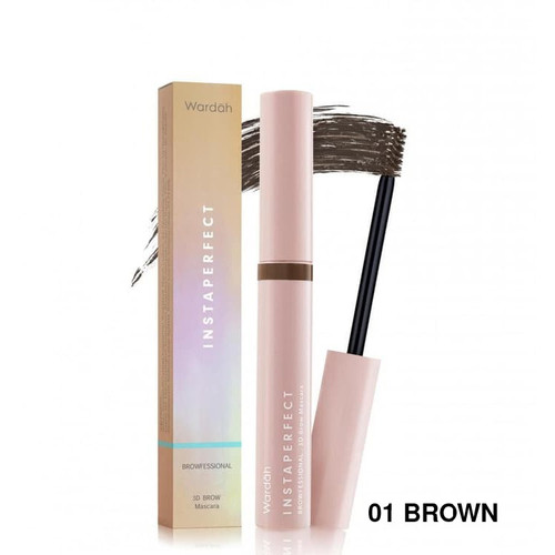 Foto Produk Wardah Instaperfect Browfessional 3D Brow Mascara - 01 BROWN dari Debelleza Shop