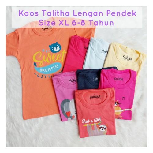 Foto Produk Kaos Anak Perempuan 6-8 Tahun Lengan Pendek - Baju Atasan Anak dari FAF Galeri