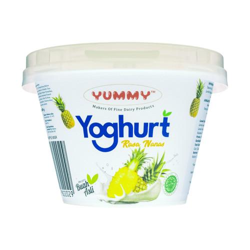 Foto Produk Yummy Fruit Yoghurt Pineapple 12 x 80g dari YUMMY Dairy