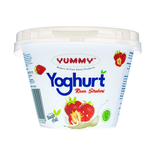 Foto Produk Yummy Fruit Yoghurt Strawberry 12 x 80g dari YUMMY Dairy