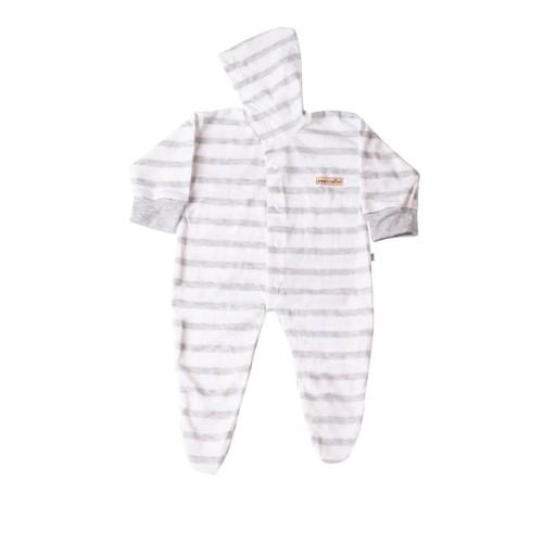 Foto Produk Jumper Hoodie - CHIYO - Panjang Tutup Kaki Newborn 0-3 - Abu-abu dari Chiyo Babywear