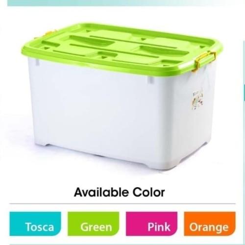 Foto Produk (GOSEND) Container Box Ezy Box CB150 - Container Box 150 liter - toska dari Baby-B Shop
