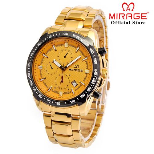 Foto Produk SPORTY ANTI KARAT JAM TANGAN PRIA MIRAGE TERBARU GOLD 8305 pK dari Mirage Watch
