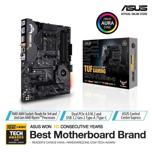 Foto Produk ASUS TUF Gaming X570-Plus WiFi AMD AM4 X570 Gaming Motherboard dari Asus Component