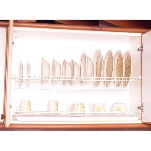 Foto Produk Rak Modelline P 90 L + TATAKAN Piring Gelas Gantung Anti Karat dari Toko Income