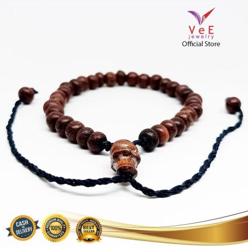 Foto Produk Tasbih Kayu Galih Asem Asli Bertuah 33 Butir - VeE Kalung Tasbih dari Vee Jewelry