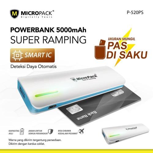 Foto Produk MicroPack Power Bank 5200 mAh Slim P520PS dari Micropack Official Store
