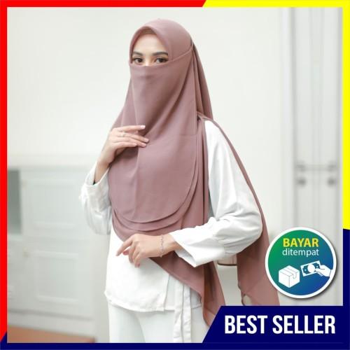 Foto Produk Cadar Hijab Tali /Niqob Bahan Cerutty Babydoll Premium Nyaman Dipakai - ROSEBROWN dari Dianhijabsurabaya