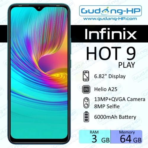 Foto Produk Infinix Hot 9 Play 3/64 GB Garansi Resmi - Ungu dari Gudang-HP