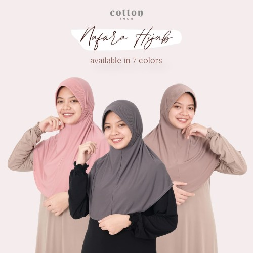 Foto Produk Cotton Inch - Nafara Hijab Kaos Intan - Mocca dari cotton inch