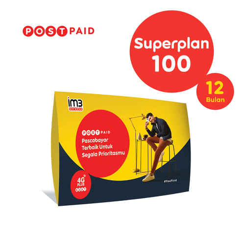 Foto Produk IM3 OOREDOO - PASCABAYAR SUPERPLAN 100 (12 BULAN) dari IM3 Ooredoo