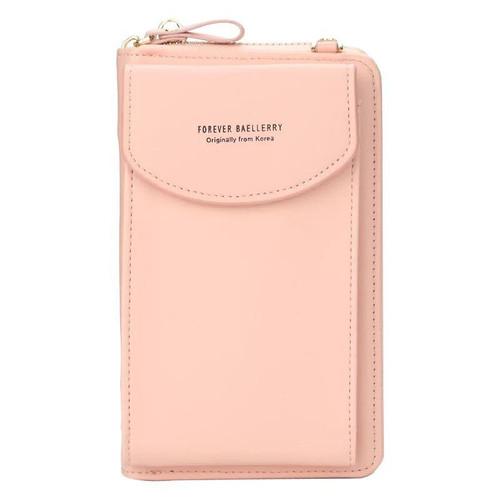 Foto Produk Tas Selempang Wanita Kulit Dompet Multifungsi Forever Baellerry N8591 - Light pink dari tirstore