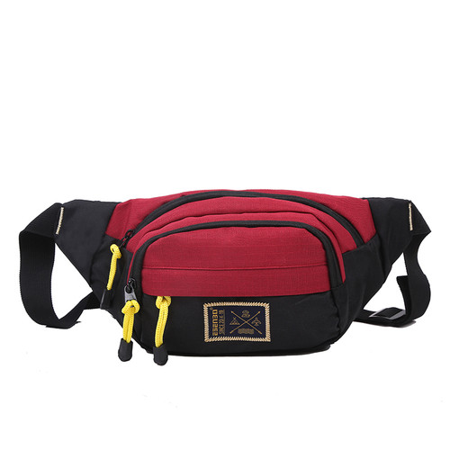 Foto Produk B905 Waist Bag Unisex Tas Pinggang Pria dan Wanita - Merah dari Raja OB