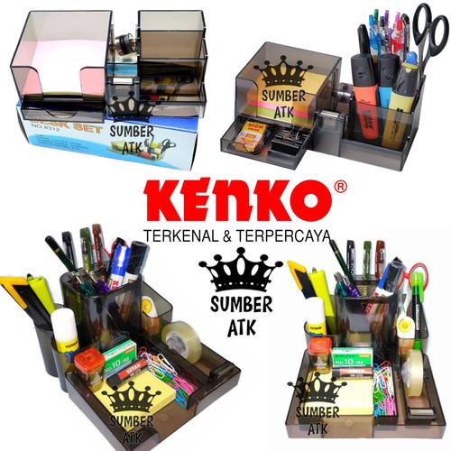 Foto Produk DESK SET ORGANIZER KENKO K-8312 Tempat Organize Alat tulis Meja -1PCS dari SUMBER ATK OFFICIAL STORE