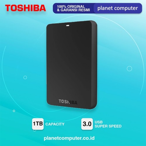 Foto Produk HARDISK EKSTERNAL TOSHIBA 1TB BASIC-READY BLACK dari Planet Computer Store
