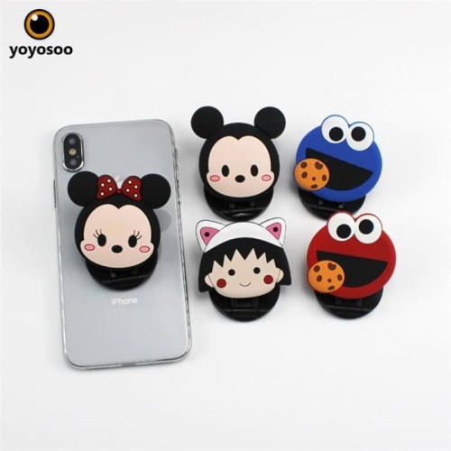 Foto Produk POp socket/Griptok 3D/ Phone Holder PVC/ Stand HP/ PhoneStand/ CARTON dari yoyosoo