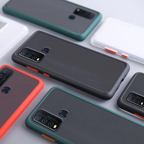 Foto Produk Vivo Y30 Y50 Z1 Pro V19 Case Skin Feel Matte Case Full Protection - VIVO Y30, Hitam dari Jagonya Case