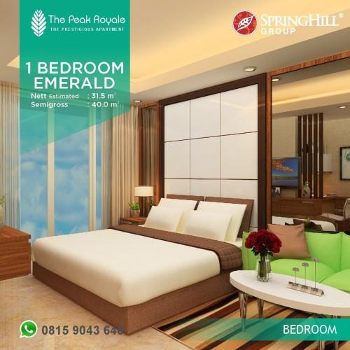 Foto Produk Apartemen Mewah di Kemayoran 750Jutaan - The Peak Royale Tipe Emerald dari SPRINGHILL ROYALE SUITES