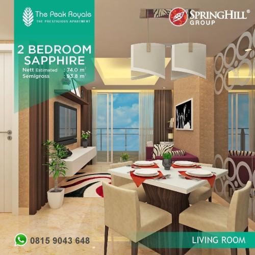 Foto Produk Apartemen Mewah di Kemayoran - The Peak Royale Tipe Sapphire (2BR) dari SPRINGHILL ROYALE SUITES
