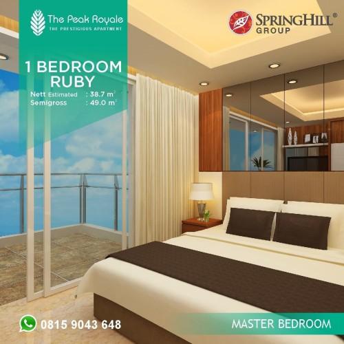 Foto Produk Apartemen Mewah di Kemayoran 918Jutaan - The Peak Royale Tipe Ruby 1BR dari SPRINGHILL ROYALE SUITES
