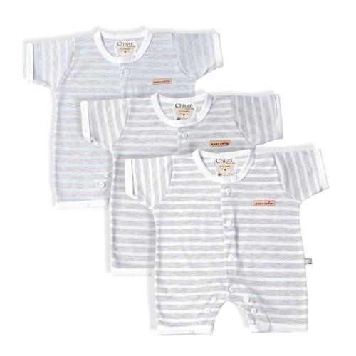 Foto Produk Jumper Bayi - CHIYO - Misty Stripe Newborn 0-3 - Hijau dari Chiyo Babywear