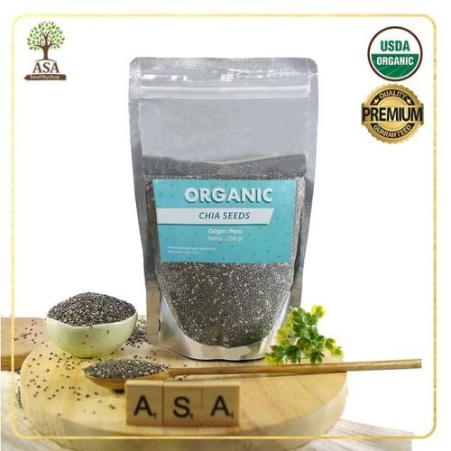 Foto Produk Organic Chia Seed Peru 250 gr dari ASA natural & healthy