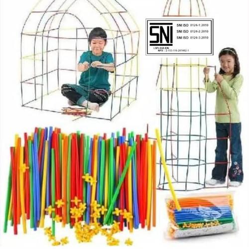Foto Produk Magic Straw 100 pipa dan 100 konektor 88003 Mainan Edukasi Anak dari Mmtoys Indonesia