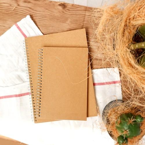 Foto Produk Kraft Cover Spiral Grid Notebook A5 / Buku Tulis A5 / Buku A5 dari Pinkabulous