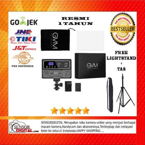 Foto Produk PAKET Lampu Studio LED Vlog GVM 10S RGB camera Light for Kamera RESMI dari sensordigital