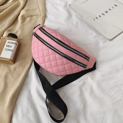 Foto Produk Waist Bag Wanita / Tas Pinggang Wanita / Tas Selempang / Tas Murah - Hitam dari Double Five Store