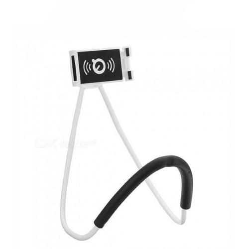 Foto Produk Lazypod Leher dan Pinggang / Holder HP Lazy Hanging Neck Cell Stand - Putih dari Juanda Mart
