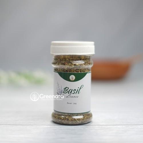 Foto Produk Greenara Dried Basil Leaves 50gr / Daun Basil Kering dari Greenara