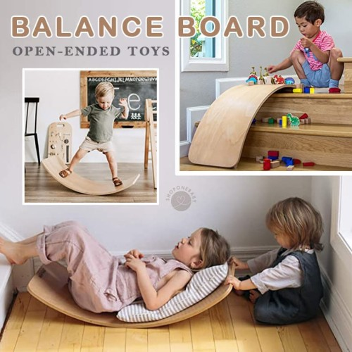 Foto Produk Wooden Balance Board Open Ended Wooden Toys Mainan Papan Keseimbangan dari onebaby