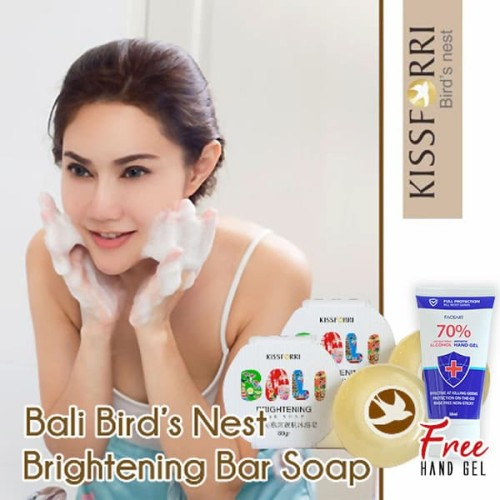 Foto Produk Kissforri Bali Bird's Nest Brightening Bar Soap - Sabun Batang dari Kissforri Official