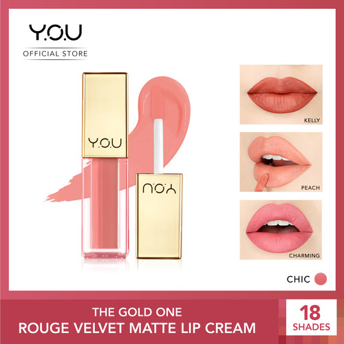 Foto Produk YOU The Gold One Rouge velvet Matte Lipcream[Quick Dry & Non-transfer] - 01 Chic dari YOU Makeups Official