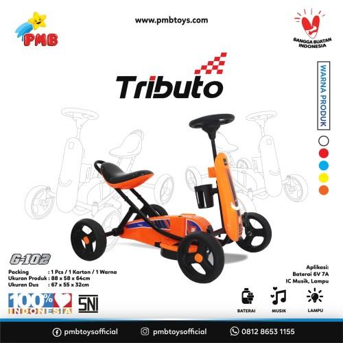Foto Produk GOKART TRIBUTO TYPE G-102 ORANGE (DENGAN AKI) dari PMB TOYS