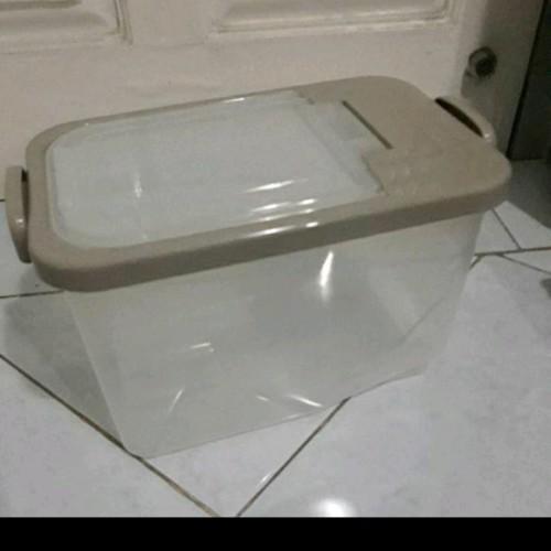 Foto Produk tempat beras/ rice box asvita 5kg 4 warna - Putih dari toko dapur 888