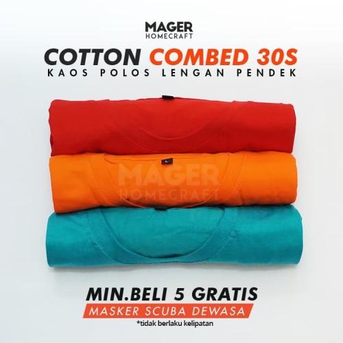 Foto Produk MH - Kaos Polos Cotton Combed 30s - Size XL - Putih, XL dari Mager Homecraft