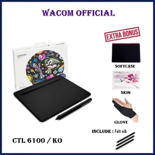 Foto Produk Wacom CTL-6100 Intuos CTL-6100/K0 Medium CTL6100K0 CTL6100 - Free Bonus dari Official Brands
