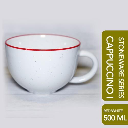 Foto Produk CAPPUCCINO I Cup White Red Speckle 500 ML dari Arutala Online Co.