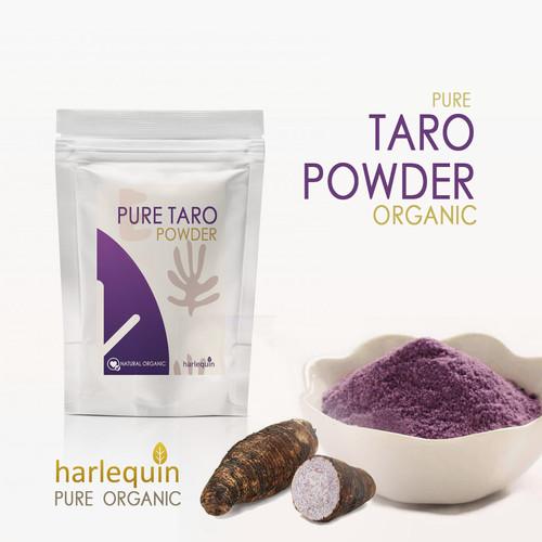 Foto Produk Pure Taro Powder 100 Gram Bubuk Taro Murni dari Harlequin Herb