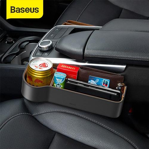 Foto Produk FRONT SEAT CAR ORGANIZER RAK SAMPING MOBIL GAP STORAGE KURSI JOK MOBIL - Hitam dari Baseus Official Store