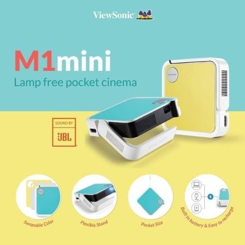 Foto Produk Projector Portable ViewSonic M1 Mini   JBL Speaker Garansi 2 Tahun dari jcb online